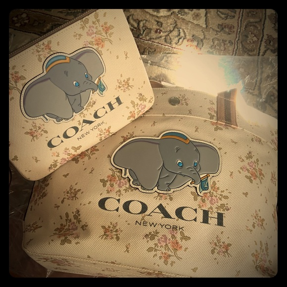 Coach Handbags - NWT Coach x Disney Dumbo Tote and pouch